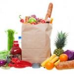krepselis maisto produktai
